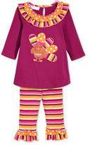 Bonnie Baby Baby Girls' 2-Pc. Turkey Tunic & Leggings Set