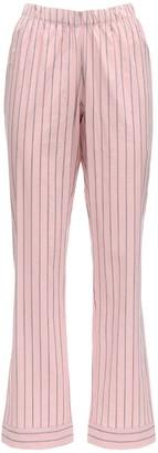 ELSE Audrey Striped Cotton Pajama Bottoms