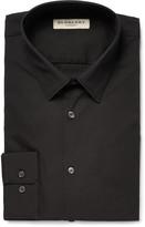 Burberry - Black London Slim-fit Stretch Cotton-blend Poplin Shirt
