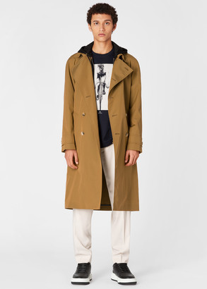 Paul Smith Men's Camel Double-Breasted Iridescent Cotton Trench Coat