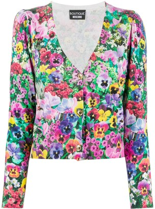 Boutique Moschino Floral-Pattern Cardigan