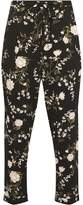 Dorothy Perkins Petite Black and Pink Floral Print Joggers