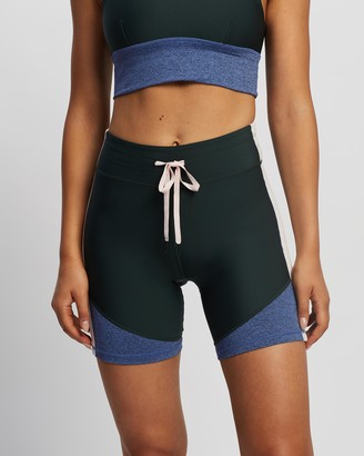 The Upside Women's Green Tights - Bhoomi Dance Spin Shorts - Size S at The Iconic
