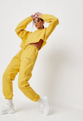 Missguided Yellow Oversized 90S Joggers