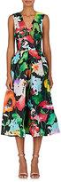 Monique Lhuillier Women's Floral Gazar Fit & Flare Cocktail Dress