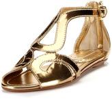 Prada Gold Leather Sandal