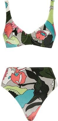 Fendi Floral Print Two-Piece Bikini