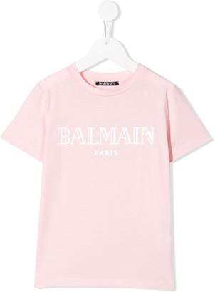 Balmain Kids printed logo T-shirt