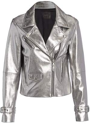Paige Ashby Metallic Leather Moto Jacket
