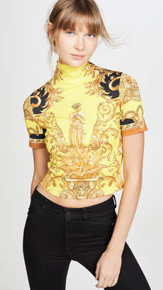 Versace Turtleneck Crop Tee
