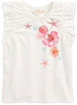 Truly Me Toddler Girl's Seashell Print Top
