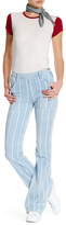 Frame Le Flare Pinstriped Jean