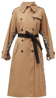 No.21 No. 21 - Leopard-print Cotton-gabardine Trench Coat - Camel