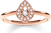 Thomas Sabo Fatima's Garden rose gold-plated and zirconia-pavé stacking ring
