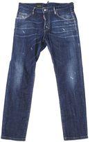 DSQUARED2 Blue Stretch Cotton Skater Jeans