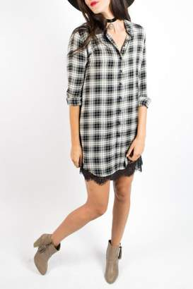 Velvet Heart Plaid Dress