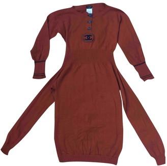 Chanel Orange Cashmere Dress for Women