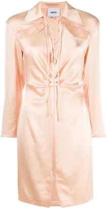 Nanushka Lace-Up Detail Dress