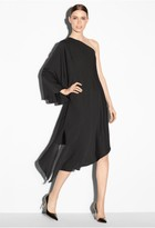 Milly Stretch Silk One Shoulder Tori Dress