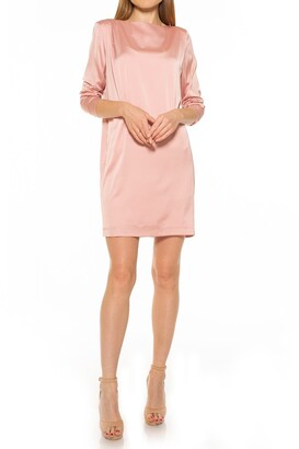 Alexia Admor Draped Long Sleeve Shift Dress