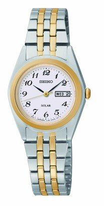 Seiko Womens Analogue Classic Solar Powered Watch with Stainless Steel Strap SUT116P9