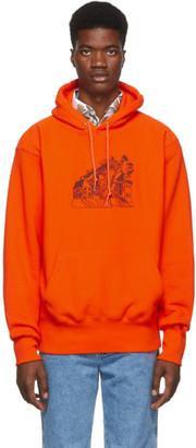 St-Henri SSENSE Exclusive Orange Lorem Hoodie