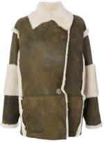 Drome contrast shearling coat