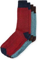 J.M. Dickens Two-Pair Dash-Print Socks