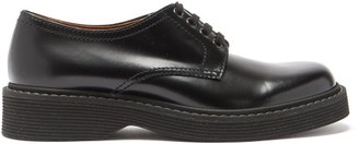 Marni Ridged-sole Leather Derby Shoes - Black