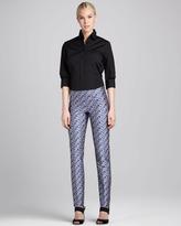 Carolina Herrera Pansy-Pattern Straight-Leg Pants