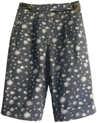 Max Mara Blue Cotton Shorts for Women