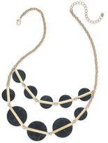 Macy's Gold-Tone White Round Stone Statement Necklace