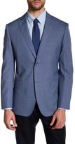Zanetti Blue Check Two Button Notch Lapel Wool Modern Fit Sport Coat