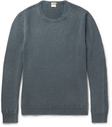 Massimo Alba Garment-dyed Cashmere Sweater - Petrol