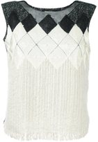 Aviu round neck knitted vest - women - Mohair/Cotton/Polyamide/Acrylic - 42