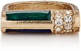 Maison Mayle MAISON MAYLE WOMEN'S ENAMEL-ACCENTED BARBELL RING