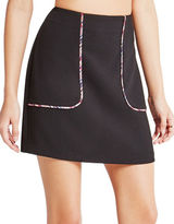 BCBGeneration Contrast Piping Miniskirt