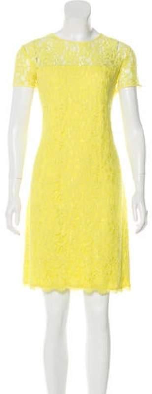 Diane von Furstenberg Lace Shift Dress Yellow Lace Shift Dress