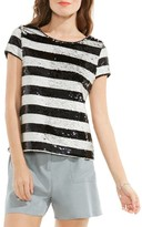 Vince Camuto Women's Sequin Stripe Top
