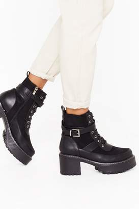 Nasty Gal Womens Stunning Chunky Cleated Boots - black - 5
