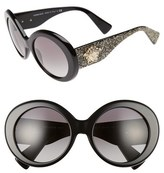 Versace Women's 55Mm Round Sunglasses - Black/ Grey Gradient