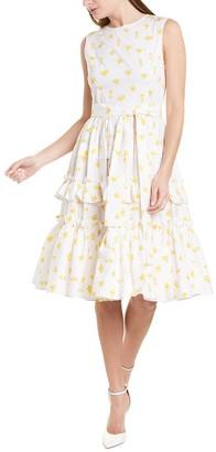 Carolina Herrera Tiered A-Line Dress