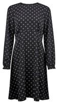 Dorothy Perkins Womens Black Empire Geometric Print Pleat Dress, Black