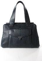 L'Wren Scott Black Python Skin Framed Small Shoulder Handbag
