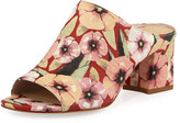 Donald J Pliner Ellis Basic Floral Lizard Mule, Orange/Red