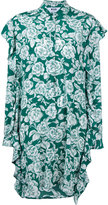 MSGM floral shirt dress - women - Silk - 42