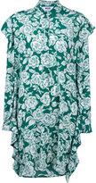 MSGM floral shirt dress - women - Silk - 44