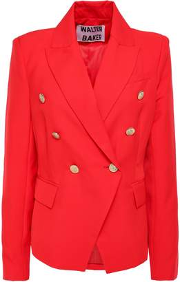 Walter W118 By Baker Miller Double-breasted Crepe Blazer