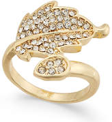 INC International Concepts Gold-Tone Pavé Leaf Ring, Only at Macy's