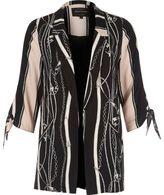 River Island Womens Black scarf print tie sleeve blazer